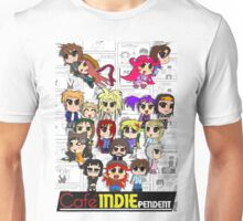 Cafe Indie Chibi Group Unisex T-Shirt