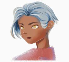 blue hair girl Kids Tee