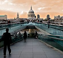 St Paul's from Millenium Bridge by nrgpix
