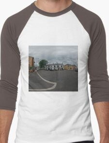 Carrick Crossroads, Donegal(Rectangular)  Men's Baseball ¾ T-Shirt