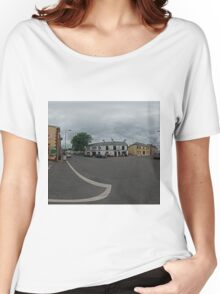 Carrick Crossroads, Donegal(Rectangular)  Women's Relaxed Fit T-Shirt