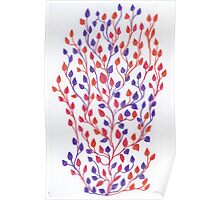 Red Purple Orange Vine Poster