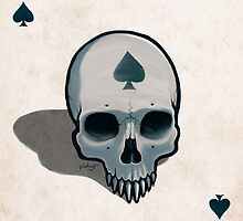 Vampire Skull Ace of Spades by pixbyr