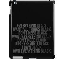 Kendrick Lamar - The Blacker the Berry lyrics iPad Case/Skin