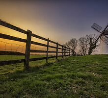 Sunset at Aston Windmill by James Godwin