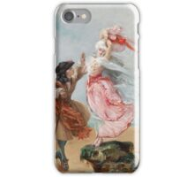 Georges_Jules_Victor_Clairin_Galantes_Paar_an_der_Meeresküste A galant couple from 1700 - c. 1919 iPhone Case/Skin