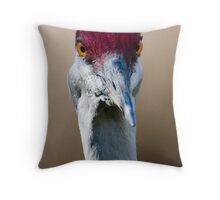 Sandhill Crane Up Close Throw Pillow