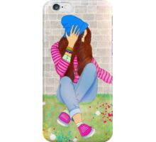 Cool girl on a sunny day iPhone Case/Skin