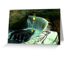 Calder Waterfall, Lochwinnoch Greeting Card
