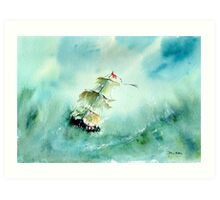Into the Lifeboat Art Print
