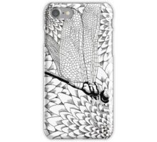 Dragonfly on chrysanthemum flowers iPhone Case/Skin