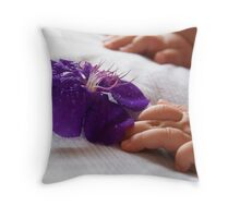 Baby's blossom Throw Pillow
