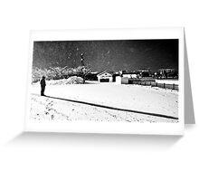 Snow storm shadow Greeting Card