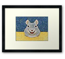 THE RAT THAT ATE THE CHEESE Framed Print