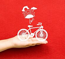 bicycle lovely from hand by ngocdai86