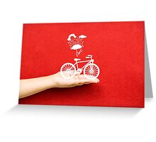 bicycle lovely from hand Greeting Card