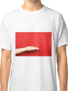 fly music sound holding hand Classic T-Shirt