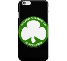 Silver Shamrock Novelties (SSN) Shirt - Traditional White Shamrock Design iPhone Case/Skin