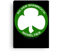 Silver Shamrock Novelties (SSN) Shirt - Traditional White Shamrock Design Canvas Print