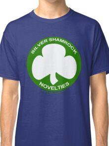 Silver Shamrock Novelties (SSN) Shirt - Traditional White Shamrock Design Classic T-Shirt