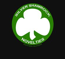Silver Shamrock Novelties (SSN) Shirt - Traditional White Shamrock Design Unisex T-Shirt