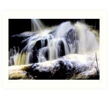 Calder `waterfall, `lochwinnoch Art Print