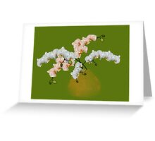 Various orchids and orchid bouquets Greeting Card
