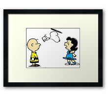 Snoopy And Lucy Peanuts Framed Print