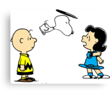 Snoopy And Lucy Peanuts Canvas Print