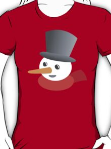 Cute snowman smiling with a top hat T-Shirt