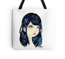 Starry-eyed in space  Tote Bag