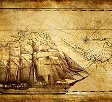 Old Ship Map by FantasyDesign
