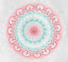 Teal & Coral Glow Medallion by Tangerine-Tane