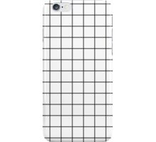 BLACK GRIDS, WHITE BACKGROUND iPhone Case/Skin