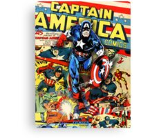 Captain America - Cover Mix Canvas Print