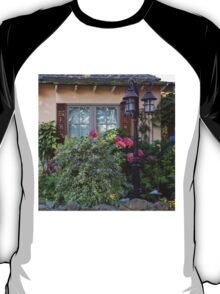 Window and Pink Hydrangea Flowers T-Shirt