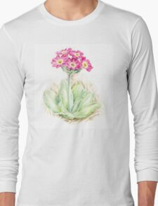 Primrose pink primula scotica Long Sleeve T-Shirt