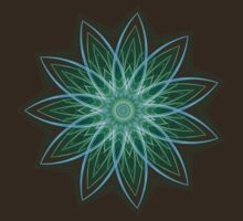 Fractal Flower - Green by Leah McNeir