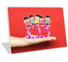 happy Kids Playing with number and on a hand Laptop Skin