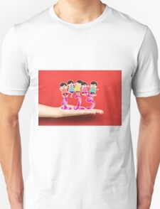 happy Kids Playing with number and on a hand Unisex T-Shirt