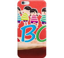 happy Kids Playing with letter and on hand iPhone Case/Skin