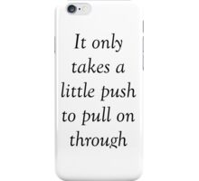 All Time Low 'Missing You' Lyrics iPhone Case/Skin