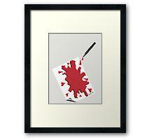Pen Bleeding On Parchment Framed Print