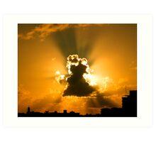 Light behind the Cloud Art Print