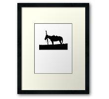 Lonely Horse Framed Print