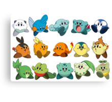 Pokemon Starters Kirby Canvas Print