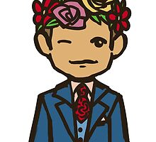Hannibal flower crown by Aude Christien