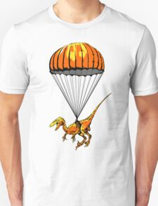 Parachuting Raptor Unisex T-Shirt