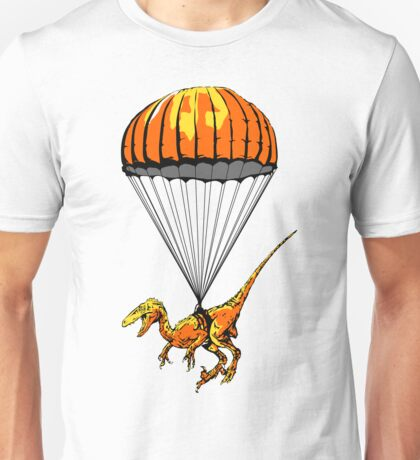 Parachuting Raptor Unisex T-Shirt