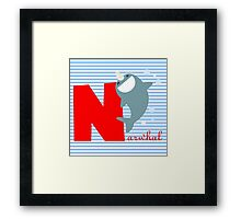 n for narwhal Framed Print